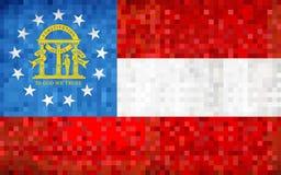 Bandera abstracta del mosaico del grunge de Georgia fotografía de archivo