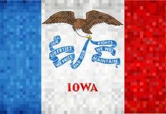 Bandera abstracta del mosaico del grunge de Iowa imagenes de archivo