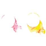 Bandera abstracta del vector de la acuarela con el chapoteo, elemento grafic, arte creativo, baner de la acuarela, Foto de archivo libre de regalías