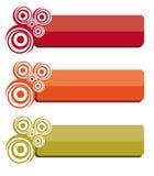Bandera abstracta del Web Imagen de archivo libre de regalías
