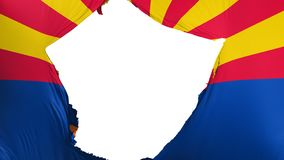 Bandera agrietada del estado de Arizona stock de ilustración