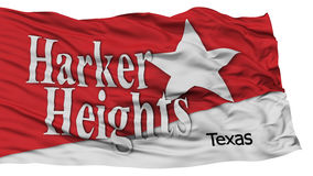 Bandera aislada de la ciudad de las alturas de Harker, los Estados Unidos de América Imagen de archivo