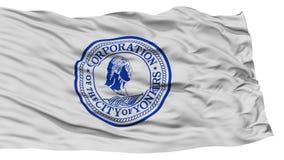 Bandera aislada de la ciudad de Yonkers, los Estados Unidos de América Foto de archivo libre de regalías