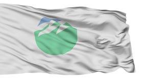 Bandera aislada de la ciudad de Inashiki, prefectura Ibaraki, Japón almacen de metraje de vídeo