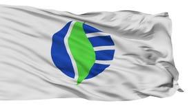 Bandera aislada de la ciudad de Ise, prefectura Mie, Japón metrajes