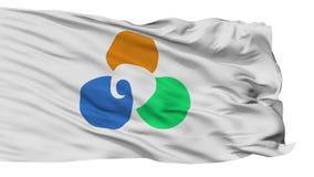 Bandera aislada de la ciudad de Minamisoma, prefectura Fukushima, Japón almacen de metraje de vídeo