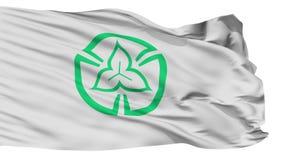 Bandera aislada de la ciudad de Tokorozawa, prefectura Saitama, Japón metrajes