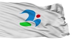 Bandera aislada de la ciudad de Tsukubamirai, prefectura Ibaraki, Japón metrajes