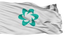Bandera aislada de la ciudad de Tsushima, prefectura Nagasaki, Japón almacen de metraje de vídeo