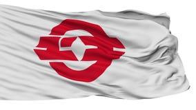 Bandera aislada de la ciudad de Yuki, prefectura Ibaraki, Japón almacen de metraje de vídeo