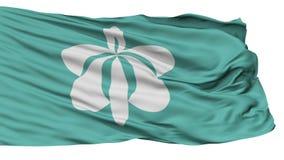 Bandera aislada de la ciudad de Yurihonjo, prefectura Akita, Japón almacen de metraje de vídeo