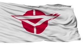 Bandera aislada de la ciudad de Zama, prefectura Kanagawa, Japón almacen de video