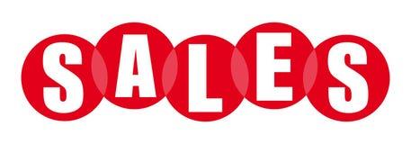 Bandera alegre roja de las ventas libre illustration
