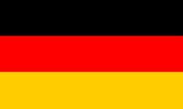 Bandera alemana, ejemplo alemán nacional del vector de la bandera Imagen de archivo libre de regalías
