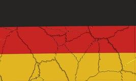 Bandera alemana machacada y agrietada Imagen de archivo libre de regalías