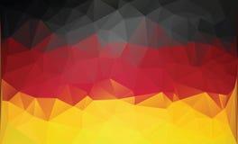Bandera alemana poligonal Imagenes de archivo