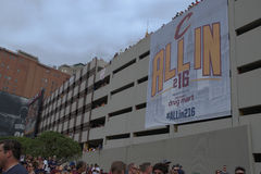 Bandera Allin216 en parking Imágenes de archivo libres de regalías