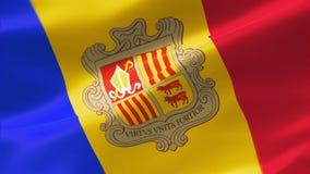 bandera altamente detallada 4k de Andorra stock de ilustración