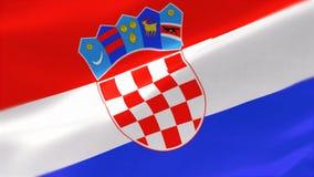 bandera altamente detallada 4k de Croacia libre illustration