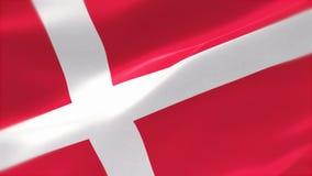 bandera altamente detallada 4k de Dinamarca libre illustration