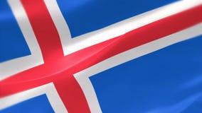 bandera altamente detallada 4k de Islandia stock de ilustración