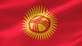 bandera altamente detallada 4k de Kirguistán stock de ilustración