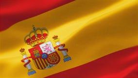 bandera altamente detallada 4k de la bandera España ilustración del vector