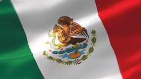 bandera altamente detallada 4k de México libre illustration