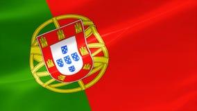 bandera altamente detallada 4k de Portugal stock de ilustración
