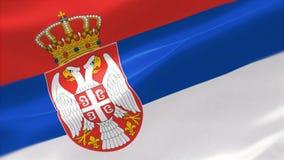 bandera altamente detallada 4k de Serbia stock de ilustración