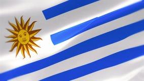 bandera altamente detallada 4k de Uruguay libre illustration