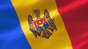 bandera altamente detallada 4k del Moldavia ilustración del vector
