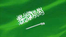 bandera altamente detallada 4k del Reino de la Arabia Saudita ilustración del vector