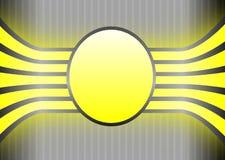 Bandera amarilla en Grey Striped Background Fotografía de archivo libre de regalías
