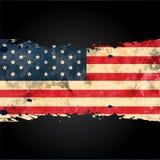 Bandera americana ilustración del vector