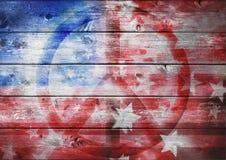 Bandera americana abstracta de la paz