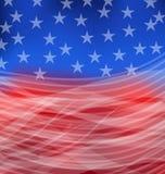 Bandera americana abstracta para feliz el 4 de julio Imagen de archivo