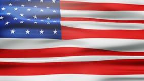Bandera americana animada Imagen de fondo stock de ilustración
