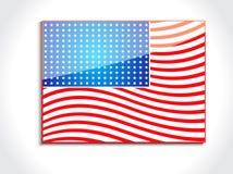 Bandera americana brillante abstracta ilustración del vector