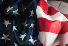 Bandera americana, cierre, Fotos de archivo libres de regalías