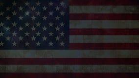 Bandera americana con trueno almacen de metraje de vídeo