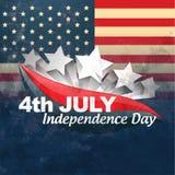 Bandera americana creativa stock de ilustración