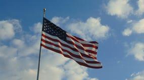 Bandera americana de la independencia fotos de archivo