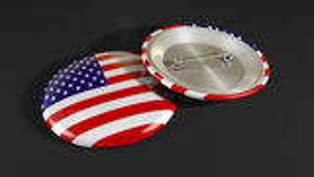 Bandera americana de la insignia Imágenes de archivo libres de regalías