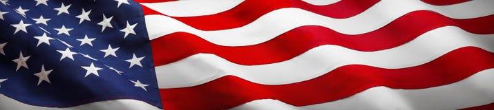 Bandera americana de la onda