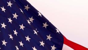 Bandera americana de las barras y estrellas de la cámara lenta almacen de metraje de vídeo