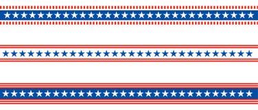 Bandera americana de los E.E.U.U. del divisor patriótico de la frontera ilustración del vector