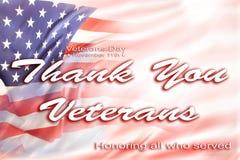 Bandera americana del día de veteranos Fotos de archivo libres de regalías
