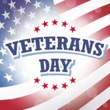 Bandera americana del día de veteranos Imagen de archivo