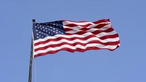 Bandera americana del patriota almacen de metraje de vídeo
